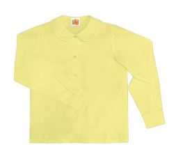 girls-yellow-long-sleeve-round-collar-blouse