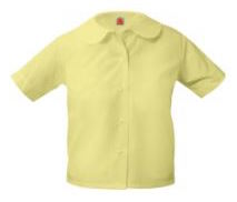 girls-yellow-short-sleeve-round-collar-blouse