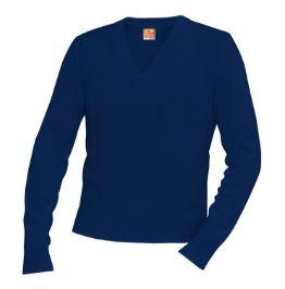 unisex-navy-v-neck-pullover-sweaterjpg
