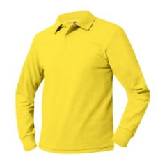 unisex-yellow-long-sleeve-polo