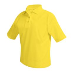 unisex-yellow-short-sleeve-polo
