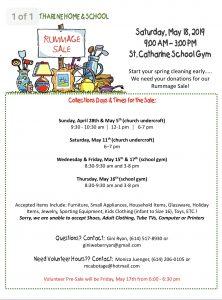 Rummage Sale | St  Catharine School