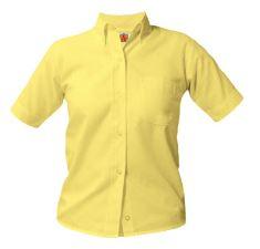 girls-yellow-short-sleeve-oxford-shirt