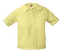 girls-yellow-short-sleeve-round-collar-blouse